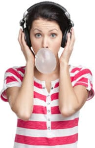 woman-with-headphones-and-gum