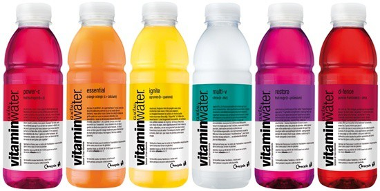 mot so loai vitaminwater